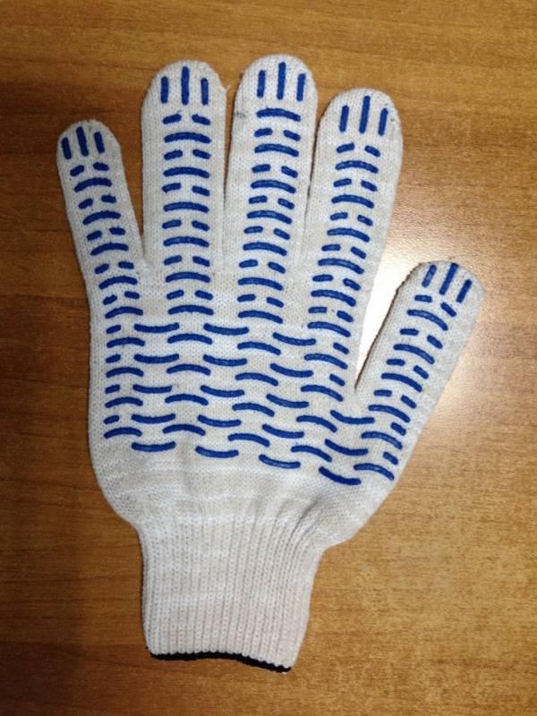 Перчатки 5-ти нитка сПВХ (Волна)