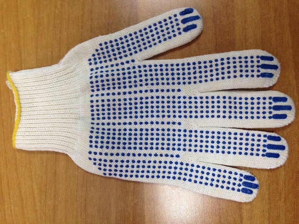 Перчатки 6-ти нитка сПВХ (Точка)