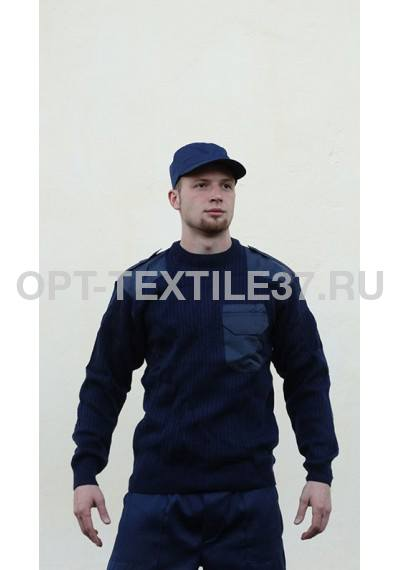 Форменный свитер синий