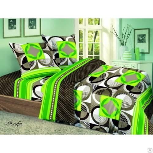 Комплект постельного белья Поплин 3D«Альфа» коллекция «Жасмин» 1.5-сп
