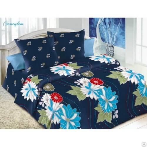 Комплект постельного белья Поплин 3D«Самоцвет» коллекция «Жасмин» 1.5-