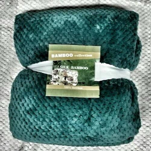 Плед Бамбук «Зеленый» 180×220