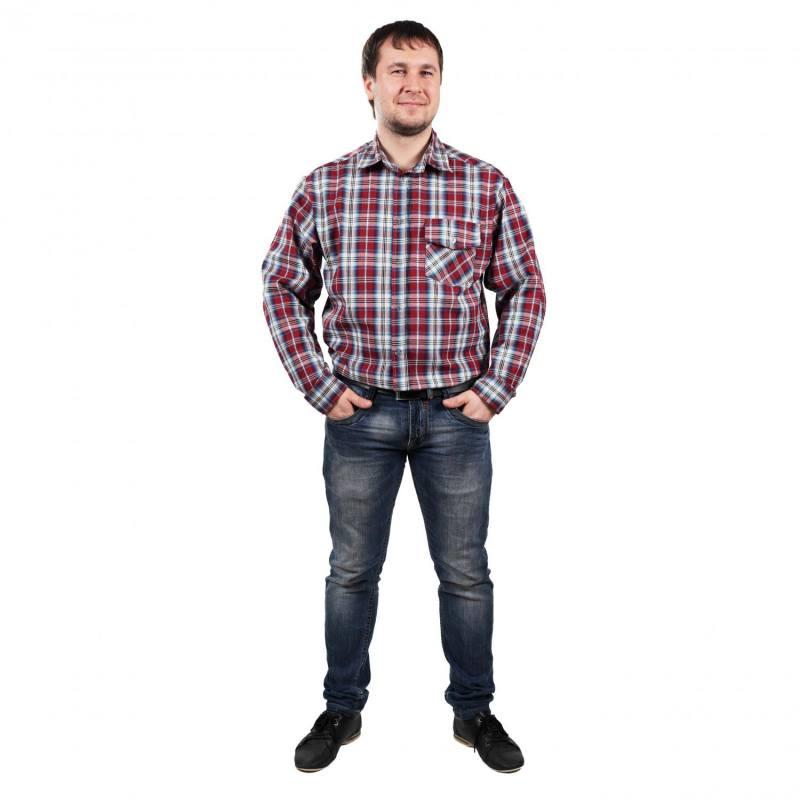 #00993 Рубашка мужская сдлинным рукавом (бязь)
