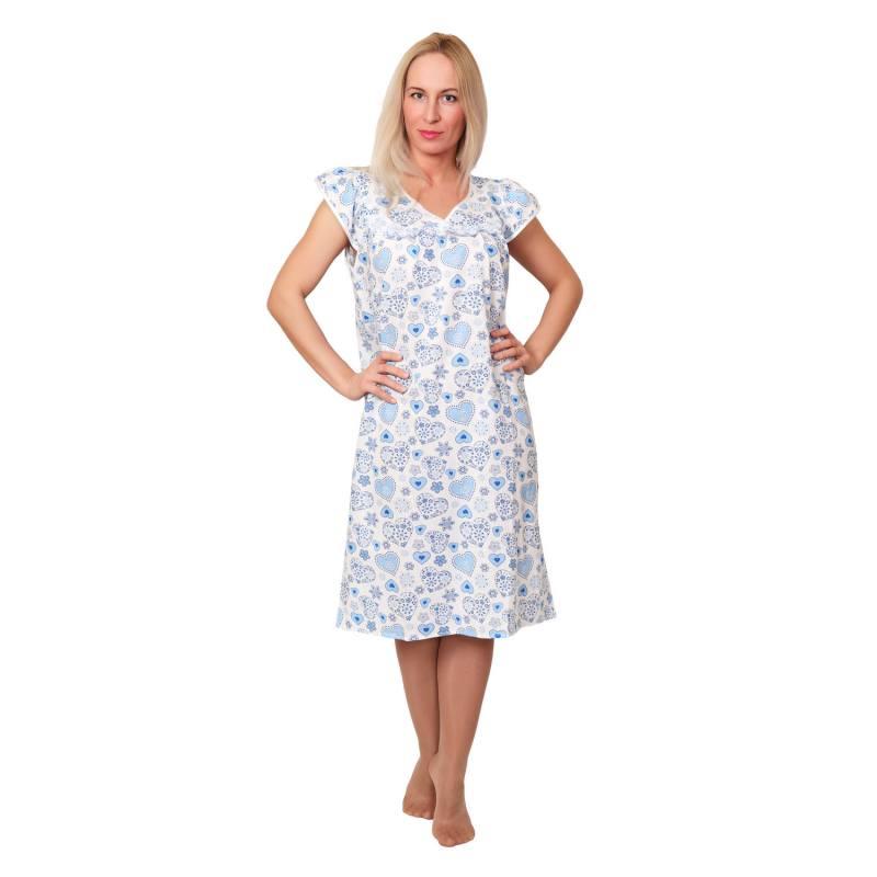 #02741 Ночная сорочка «Елена» (ситец)