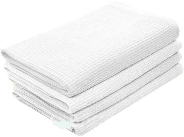 полотенце вафельное 45×100 белое