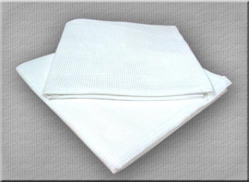 полотенце вафельное 40×80 белое