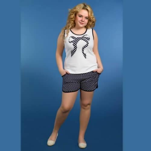 Пижама женская сшортами ПШ-8