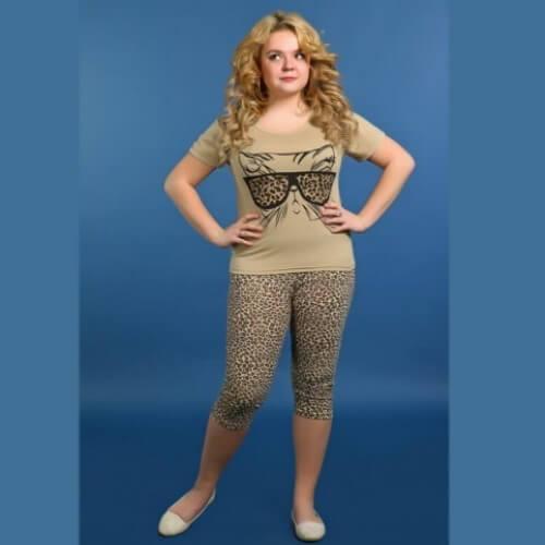 Пижама женская сбриджами ПБЖ-11