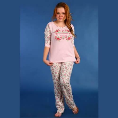 Пижама женская сбрюками ПБР-6