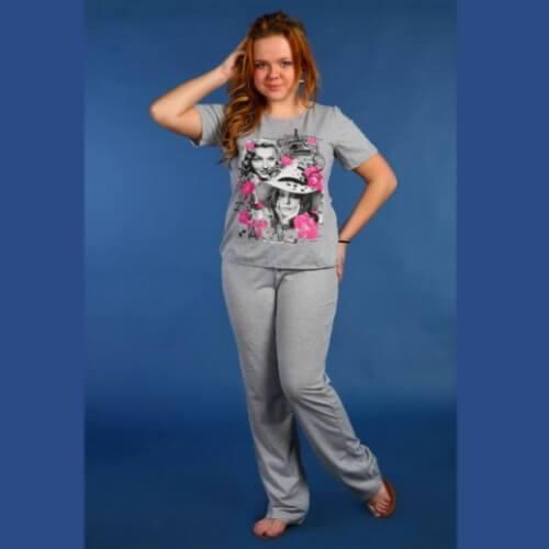 Пижама женская сбрюками ПБР-5