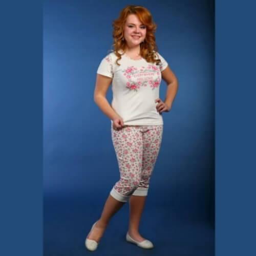Пижама женская сбриджами ПБЖ-3