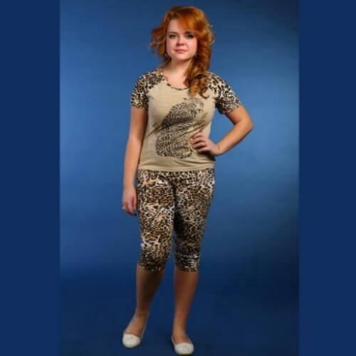 Пижама женская сбриджами ПБЖ-1
