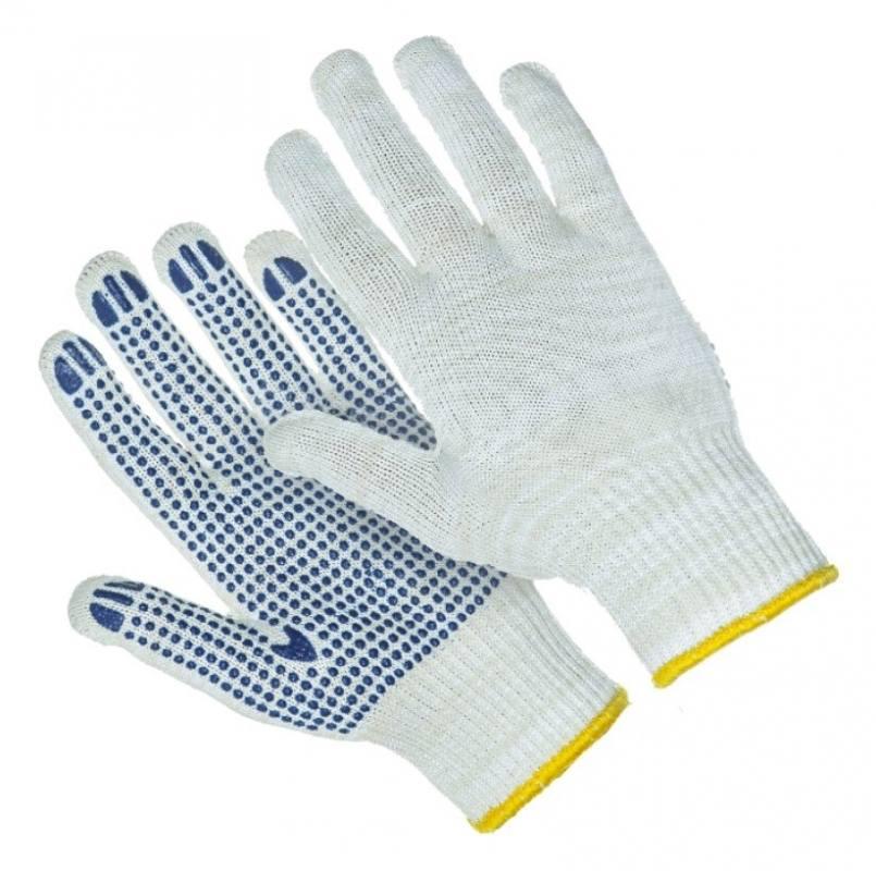 Перчатки 7-нитей 7,5 класс ПВХ Точка (эконом)