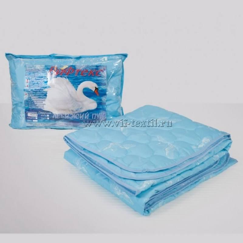 Одеяло лебяжий пух 1.5сп, 150г/м2, полиэстер