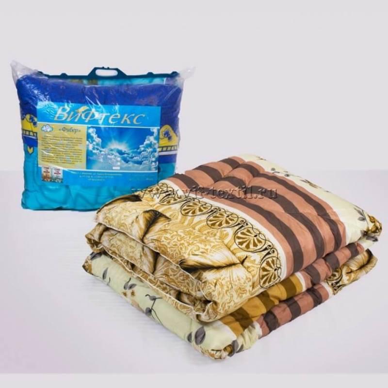 Одеяло фибер 1.5сп (пакет сручкой) Зима, полиэстер, 400г/м2