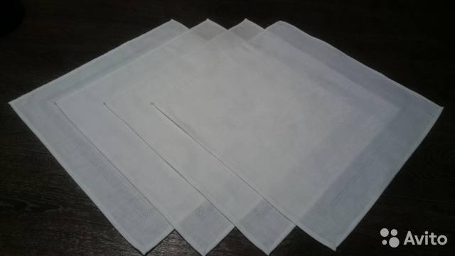 Салфетка льняная сзаконченным рисунком