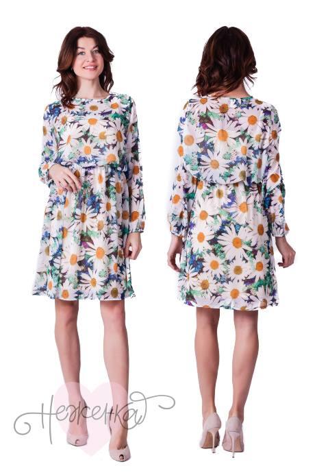 Платье-двойка П683 (ромашки)