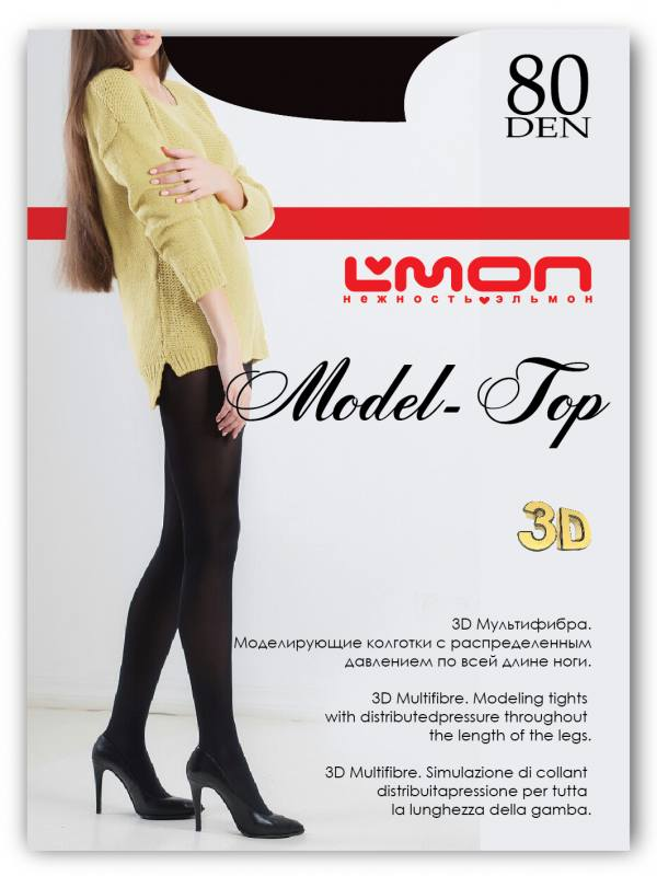 Колготки L'mon Model Top 3D 80 den