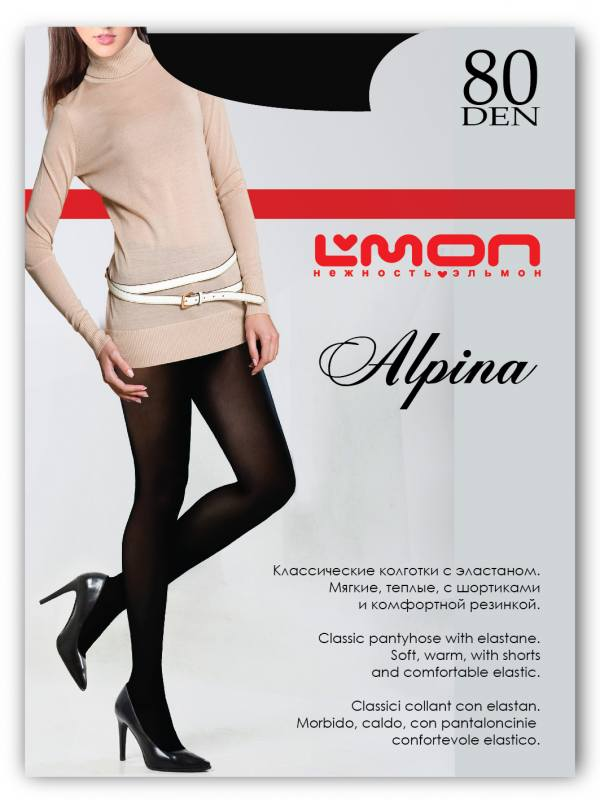 Колготки L'mon Alpina 80den
