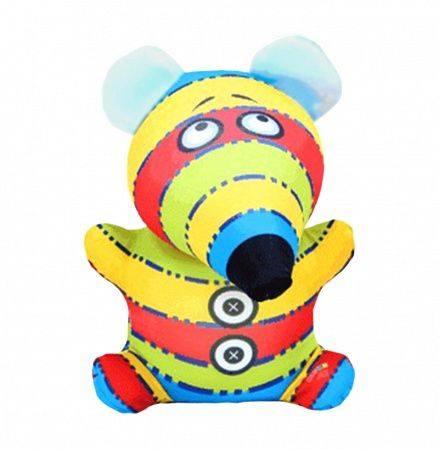 Антистрессовая игрушка «Веселая мышь» 1(Яркая полоска)