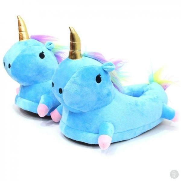 Тапки Единороги Голубые детские