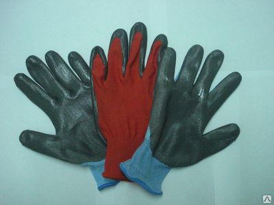Перчатки нейлоновые снитриловым покрытием
