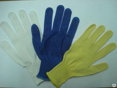 Перчатки нейлоновые сПВХ покрытием
