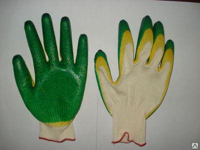 Перчатки х/б сдвойным латексным покрытием <nobr>(2-й</nobr> облив)