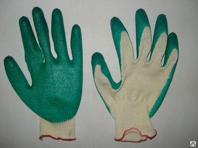Перчатки х/б содинарным латексным покрытием <nobr>(1-й</nobr> облив)