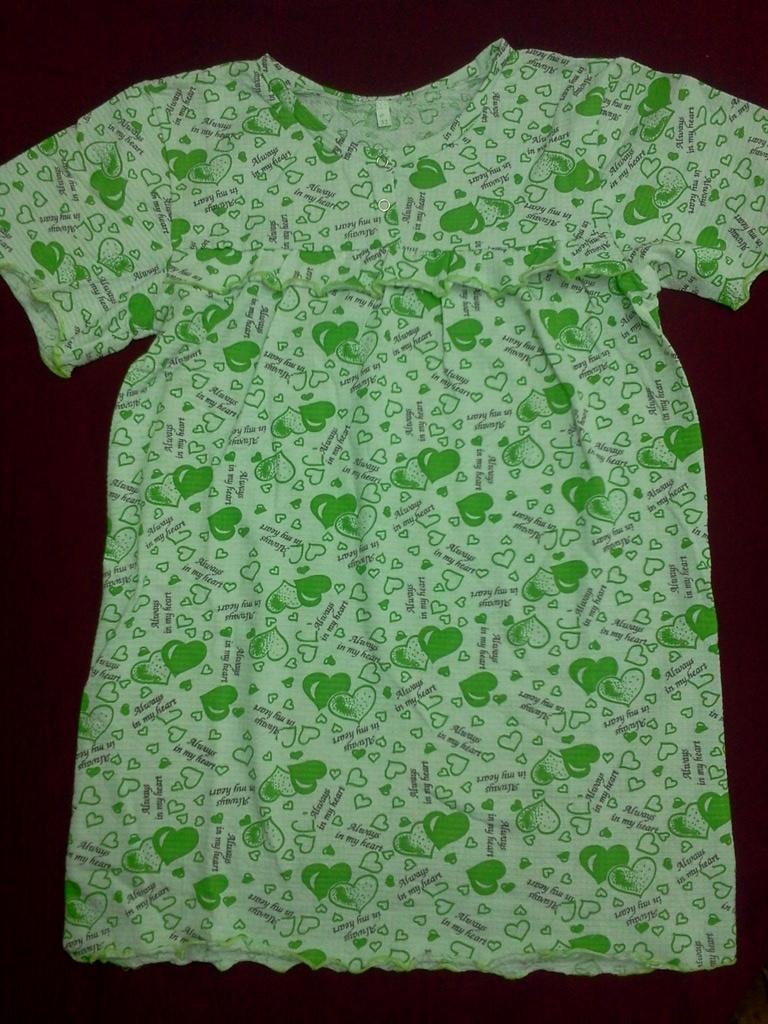 Ночная сорочка для девочки скнопками