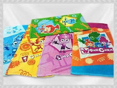 Махровые полотенца «Фиксик» оптом