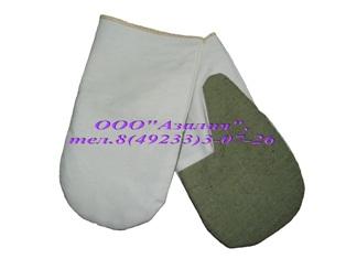 рукавицы повышеной прочности саржа сбрезентовым наладонником